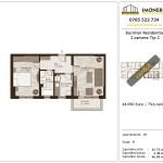 Apartamente de vanzare Burnitei Residential -2 camere tip C