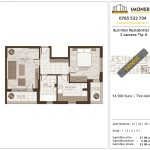 Apartamente de vanzare Burnitei Residential 2-2 camere tip H