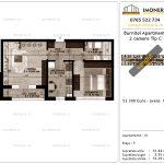 Apartamente de vanzare Pallady - Burnitei Apartments -2 camere tip C'-v