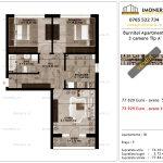 Apartamente de vanzare Pallady - Burnitei Apartments -3 camere tip A'-v