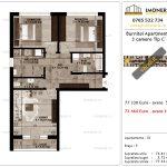 Apartamente de vanzare Pallady - Burnitei Apartments -3 camere tip C'-v