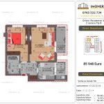 Apartamente de vanzare Dristor Residential 5 - 2 camere tip B