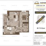 """Apartamente de vanzare Dristor Residential 5 - 2 camere tip E"""" -v"""