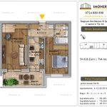 Apartamente de vanzare Fundeni - Regnum Residence&Spa -2 camere tip 4A