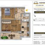Apartamente de vanzare Fundeni - Regnum Residence&Spa -2 camere tip 7A