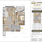 Apartamente noi Doubless -Pallady Apartments 2 -2 camere tip C1.2