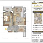 Apartamente noi Doubless -Pallady Apartments 2 -2 camere tip D2.2