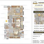 Apartamente noi Doubless -Pallady Apartments 2 -4 camere tip A2.1