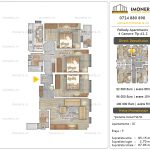 Apartamente noi Doubless -Pallady Apartments 2 -4 camere tip A2.2