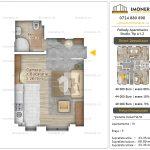 Apartamente noi Doubless -Pallady Apartments 2 -Studio tip A1.2