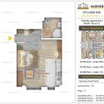 Apartamente noi Doubless -Pallady Apartments 2 -Studio tip A2.2